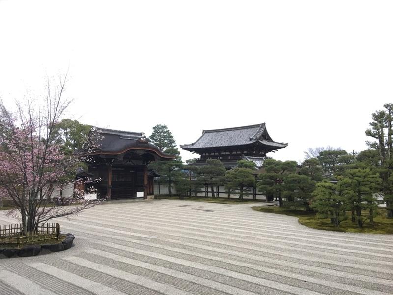 宸殿から見る二王門
