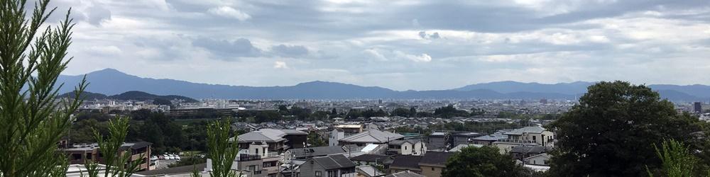 左に比叡山、右には京都タワー!