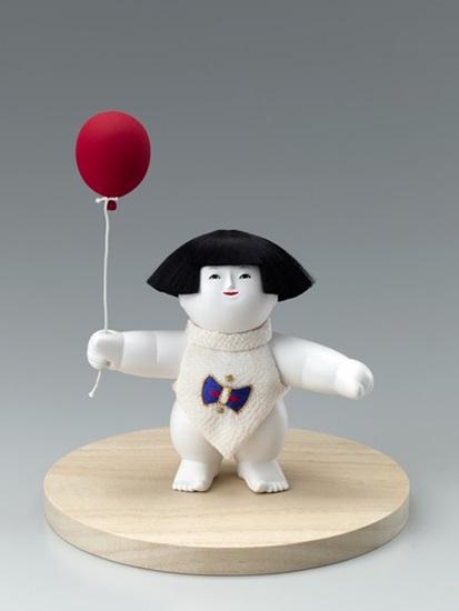 木彫御所人形「ふうせん」