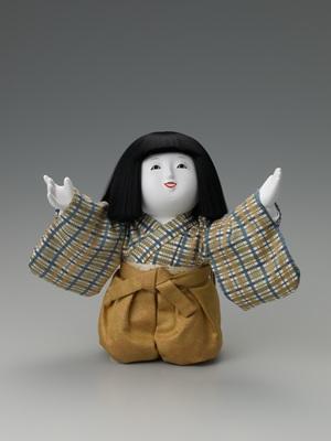 十二世久重作 木彫御所人形「望」