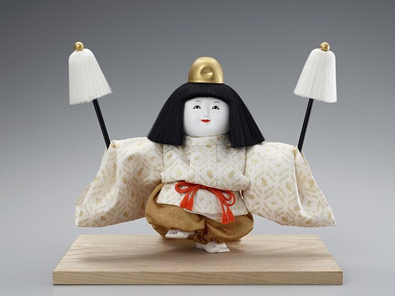 十二世久重作 木彫御所人形「舞人」