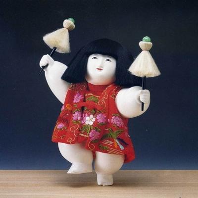 十二世 久重作 木彫御所人形 「夢の御子」