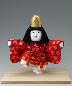 十二世 久重作 木彫御所人形「福の神」