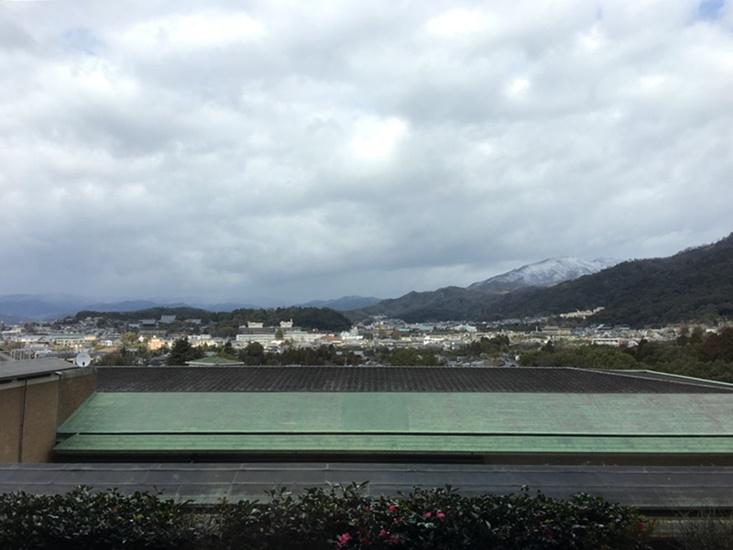 雪化粧の「比叡山」