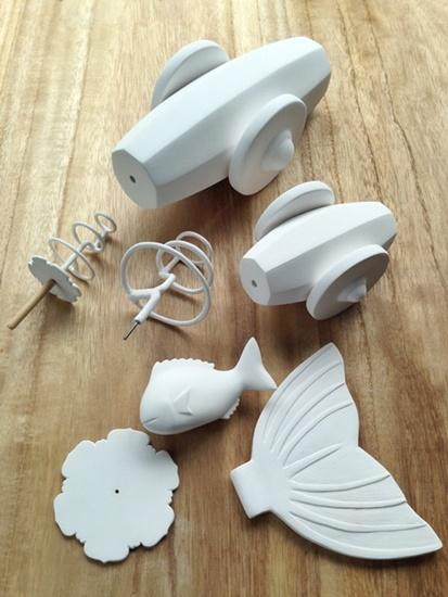 作りかけの小道具たち