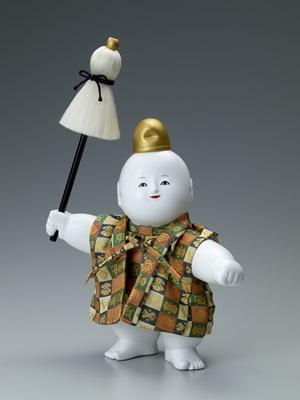 建一作 木彫御所人形「吉祥」